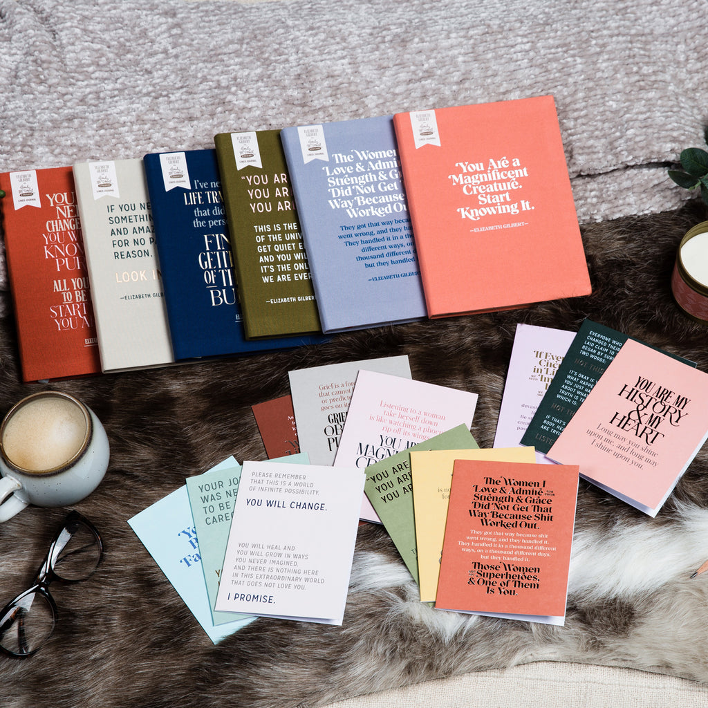 Group image of all Elizabeth Gilbert products