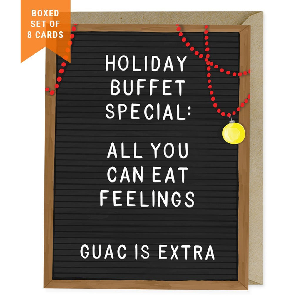 Set of 8 Holiday Cards: All You Can Eat Feelings
