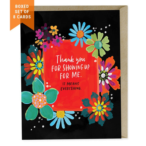 Thank you cards gifts emily mcdowell studio thank you for showing up box of 8 m4hsunfo