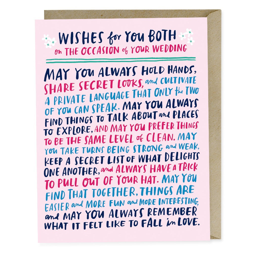 Emily McDowell Wishes For You Both Wedding Card