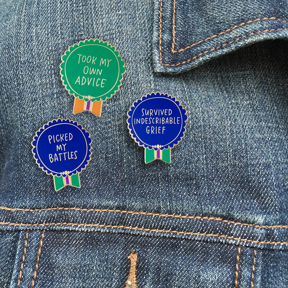 Kicked Cancer's Ass Everyday Bravery Enamel Pin