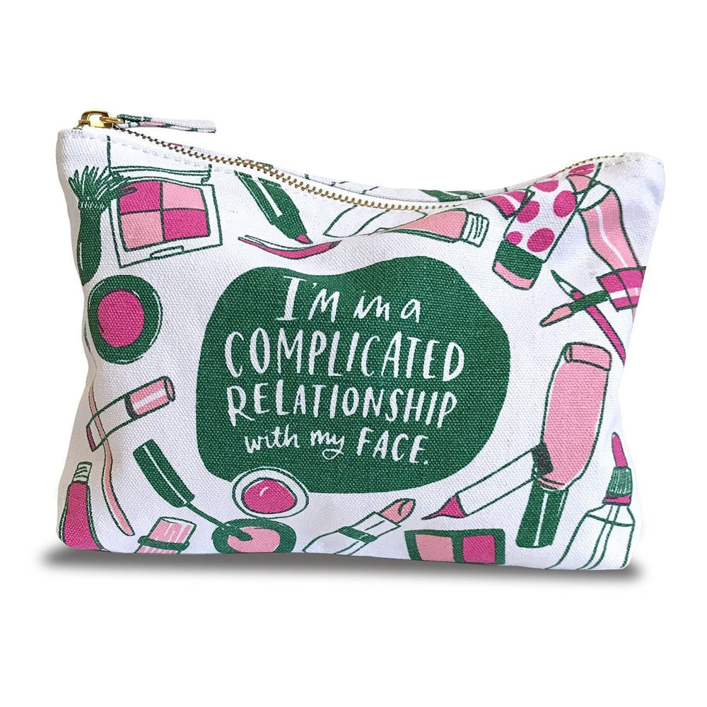 Canvas Pouch - I'm in a Complicated Relationship with my Face