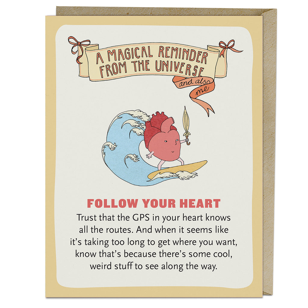 Emily McDowell & Friends Follow Your Heart Affirmators! Greeting Card