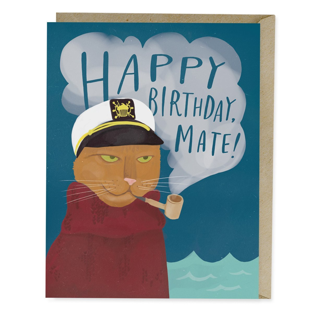Seafaring Cat Birthday Card