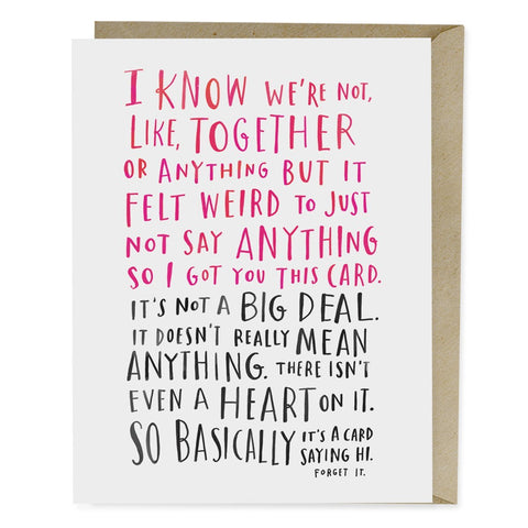valentines day cards awkward dating card