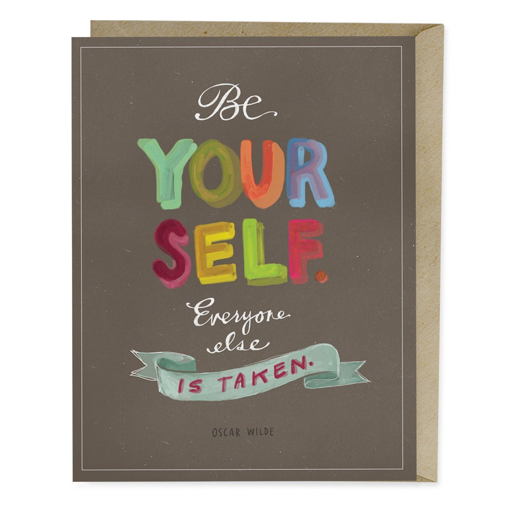 "Oscar Wilde ""Be Yourself"" Card"