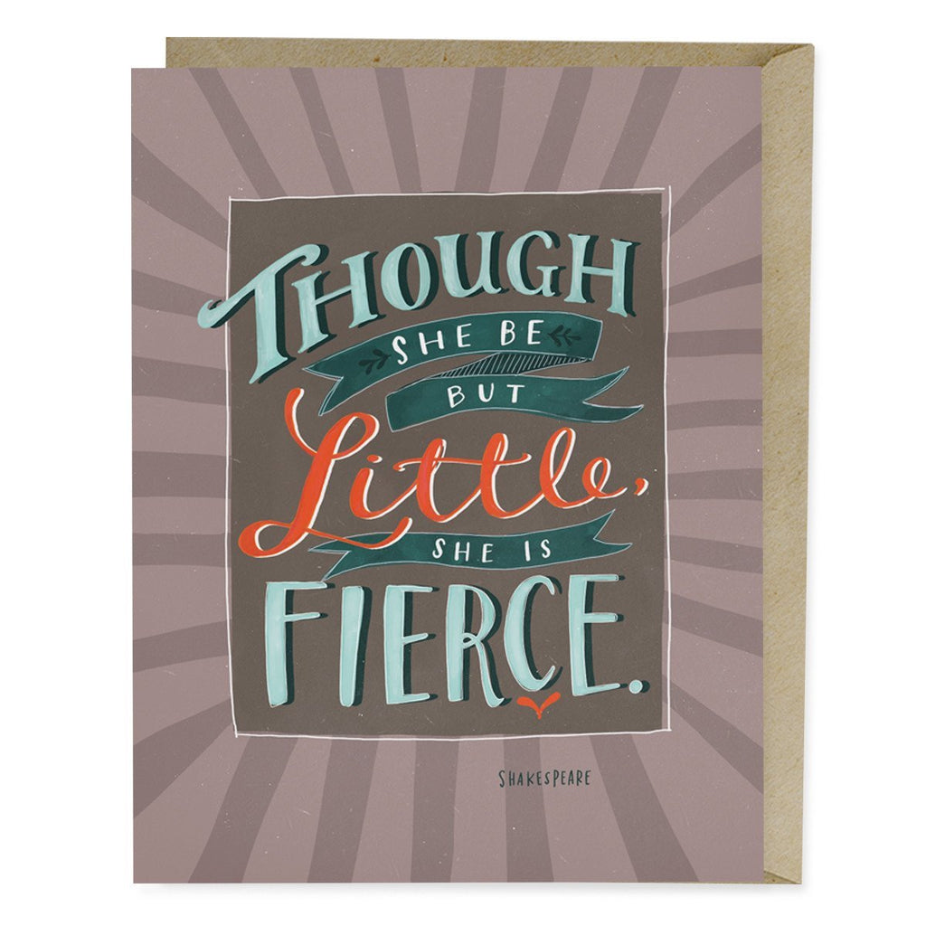 "Shakespeare ""Fierce"" Card"