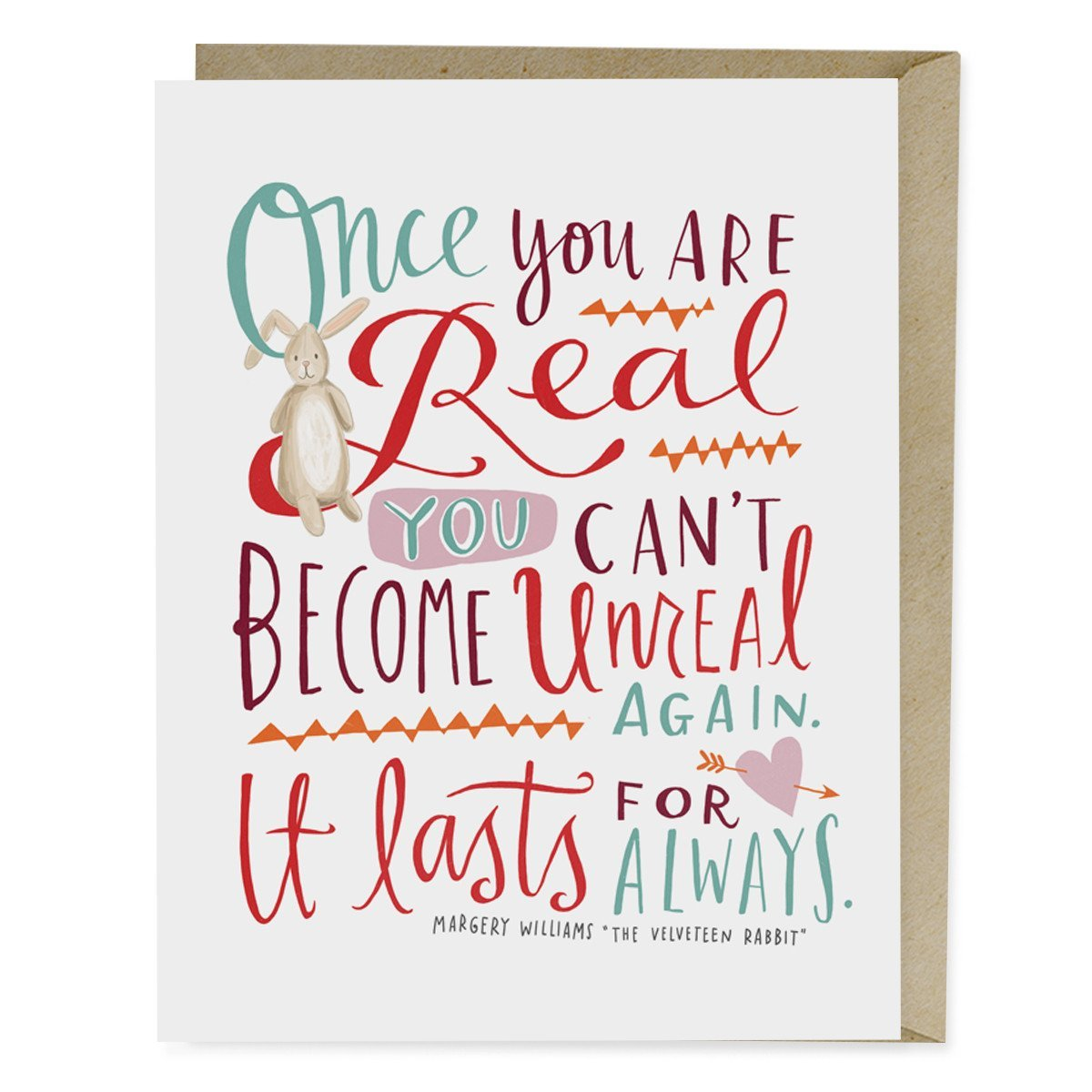 The Velveteen Rabbit Quote Card