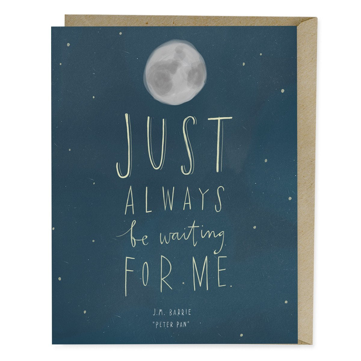 Peter Pan Waiting For Me Quote Card Emily Mcdowell Studio