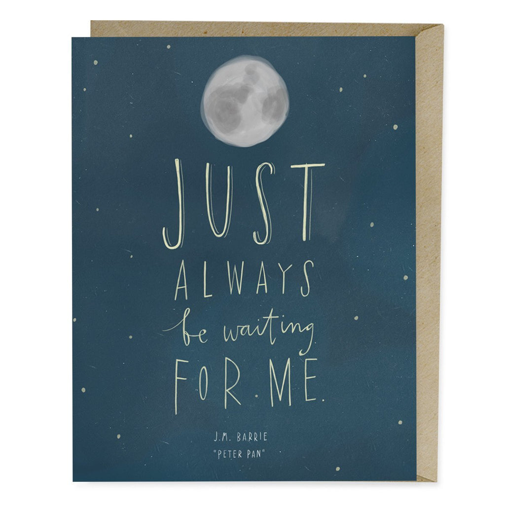 Encouragement card: Peter Pan quote