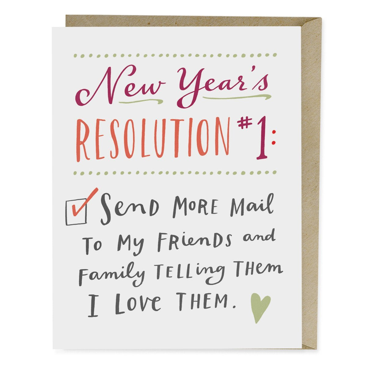 New Years Resolution 1 Card Emily Mcdowell Studio