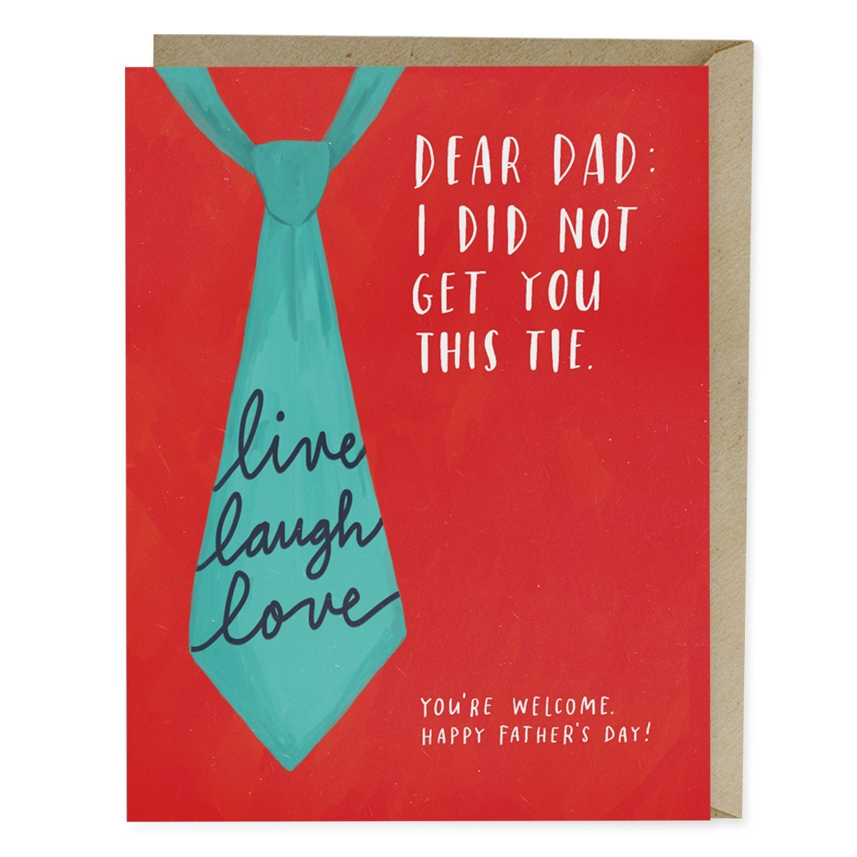 Live Laugh Love Tie Fathers Day Card Emily Mcdowell Studio
