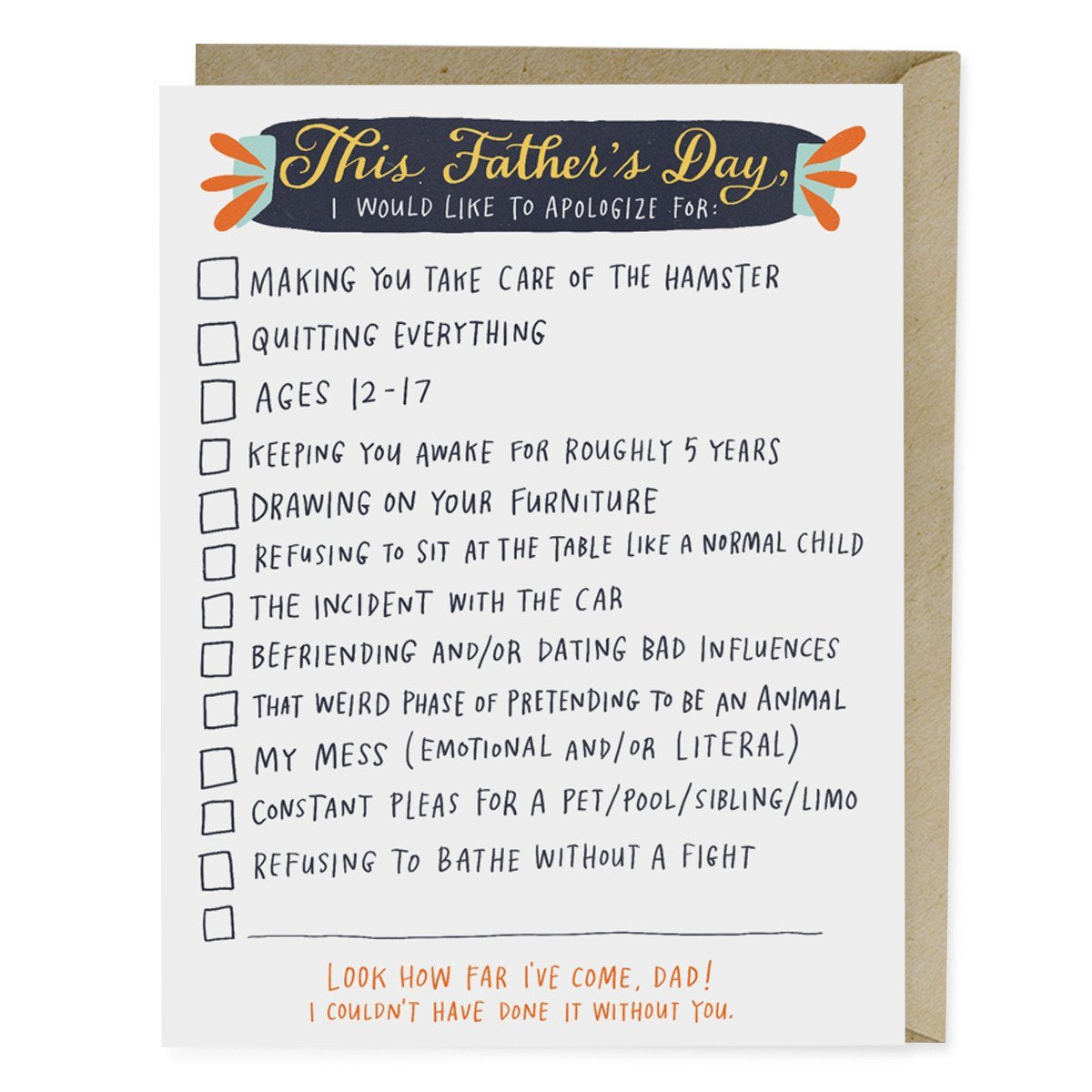 JUST LIKE A DAD TO ME Fd4 Father's Day Card