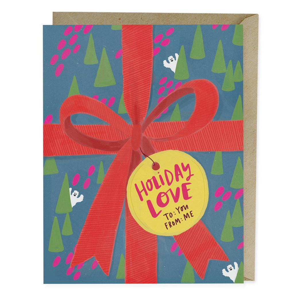 Gift Wrap Holiday Card
