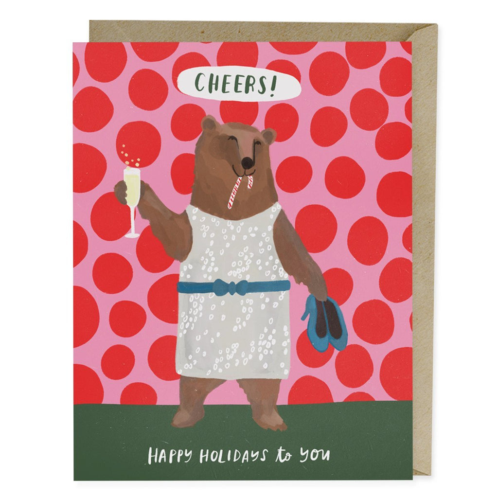 Cheers Bear Holiday Card