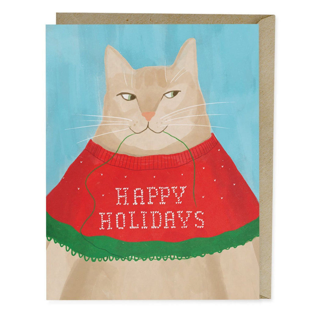 Cat Sweater Holiday Card