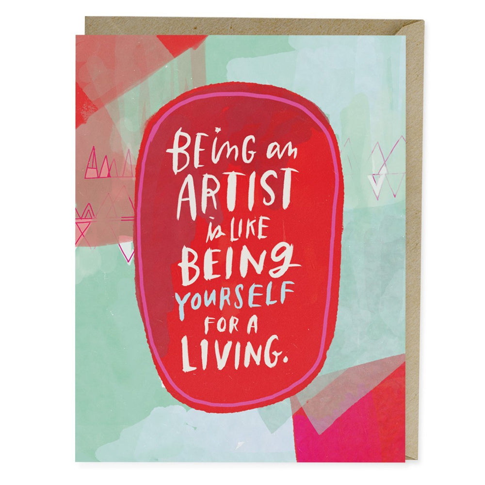Being An Artist Card