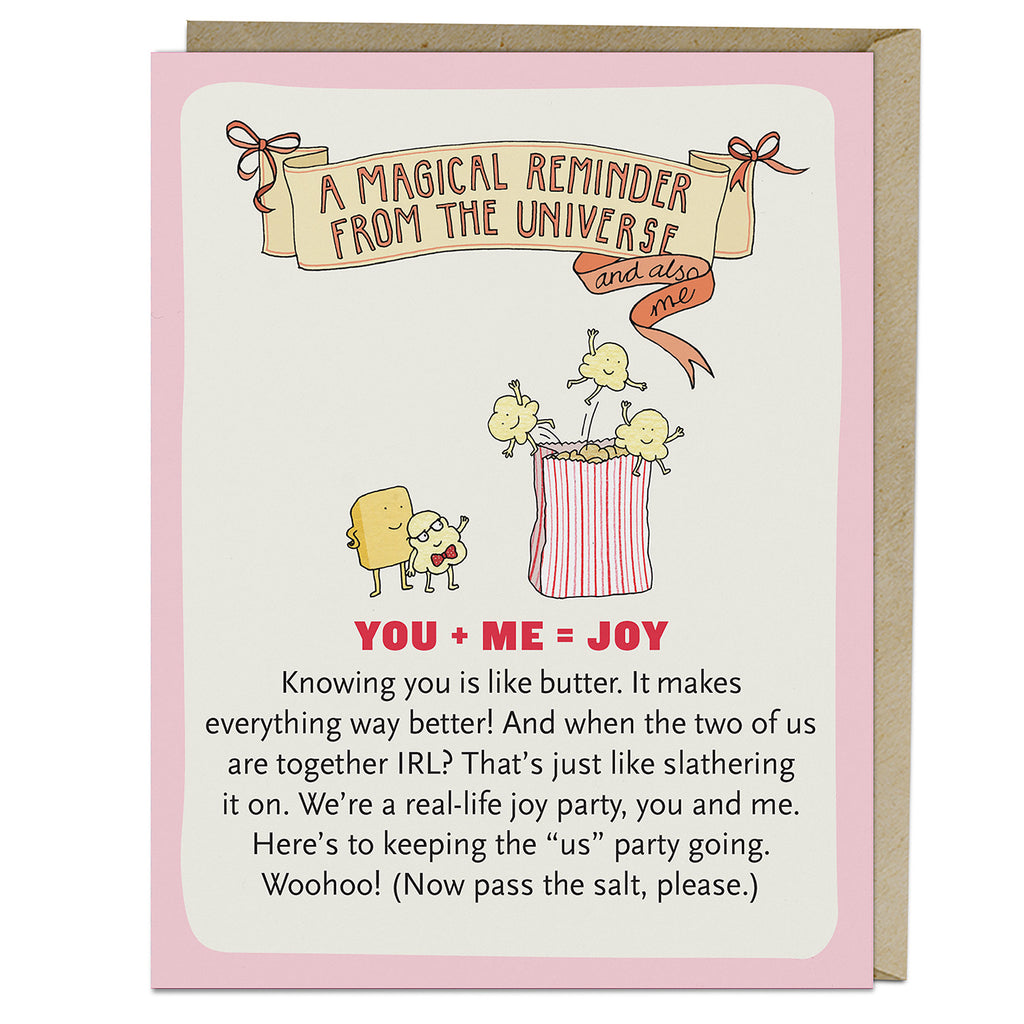 Emily McDowell & Friends You Me Joy Affirmators! Greeting Card