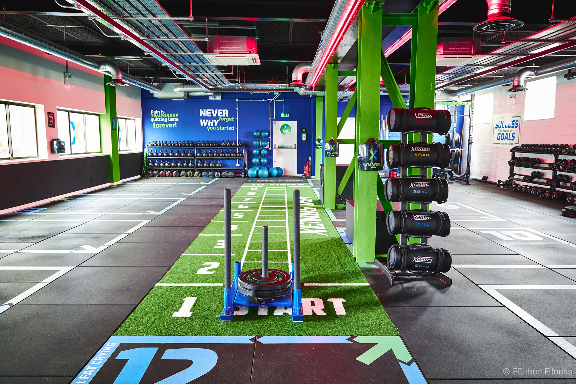 Layout and flooring at The Fitness Experts, Basingstoke