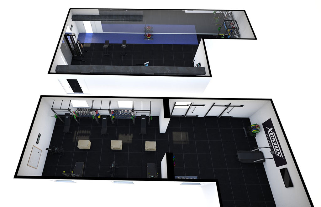 Mill Hill 3D drawings of gym space