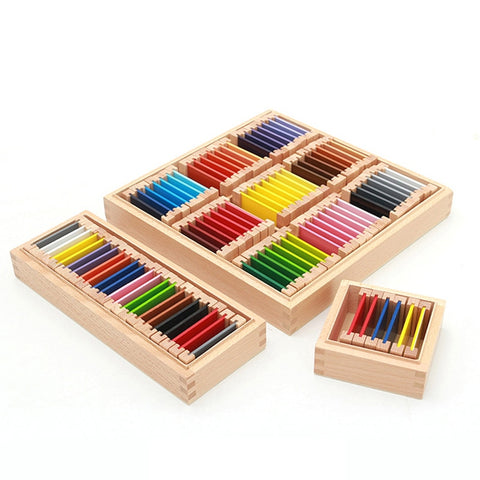 Color Learning Box 1/2/3 Wood Preschool Educational Toys