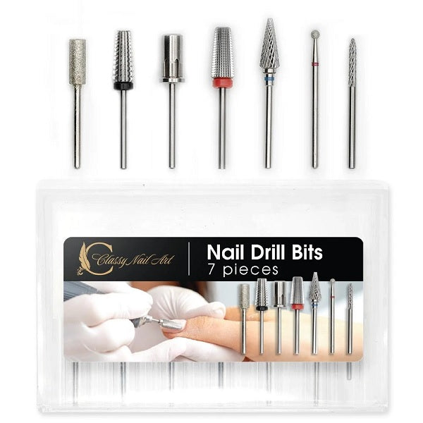 7PCS Nail Drill Bits With Storage Case