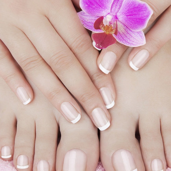 Apply nail whitening pencil or scrub for fast fixing