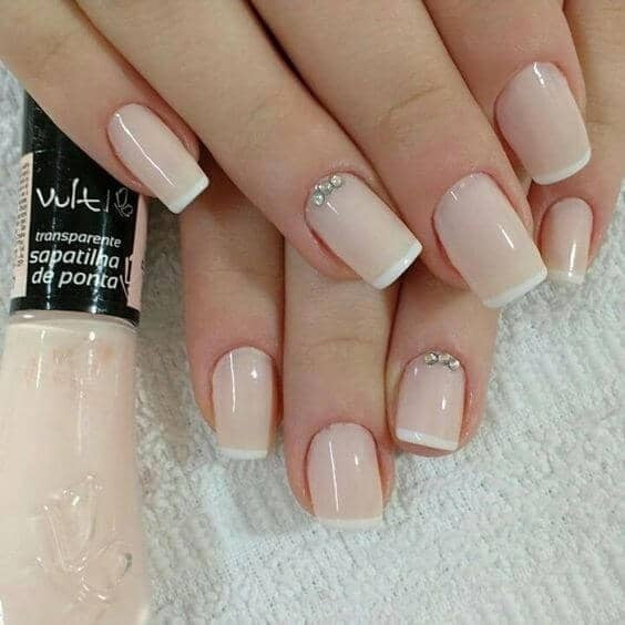 Bejeweled French Manicure