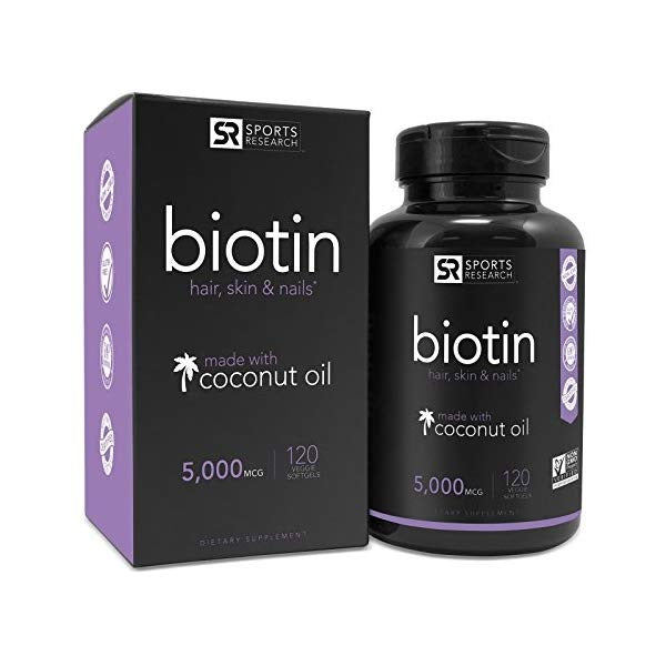 Biotin Infused with Organic Virgin Coconut Oil by Sports Research