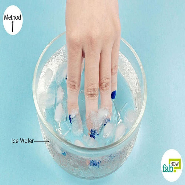 Dip your nails in the bowl!