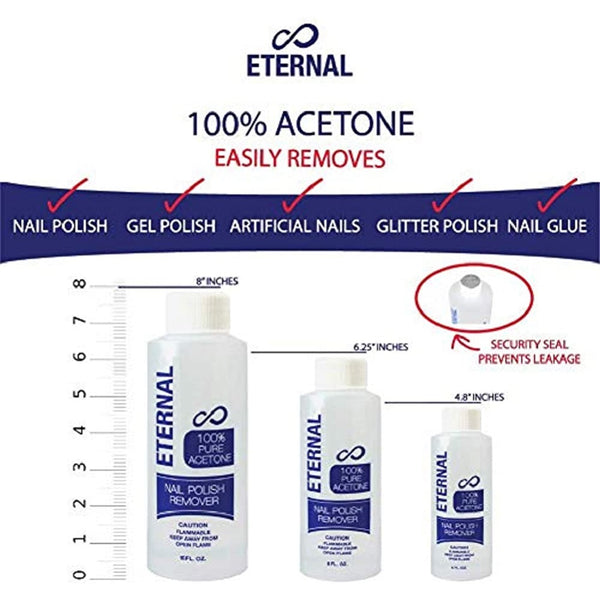 Eternal Professional Nail Polish Remover - 100% Pure Acetone