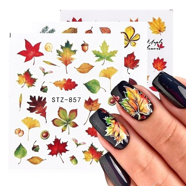 Fall Nail stickers Design