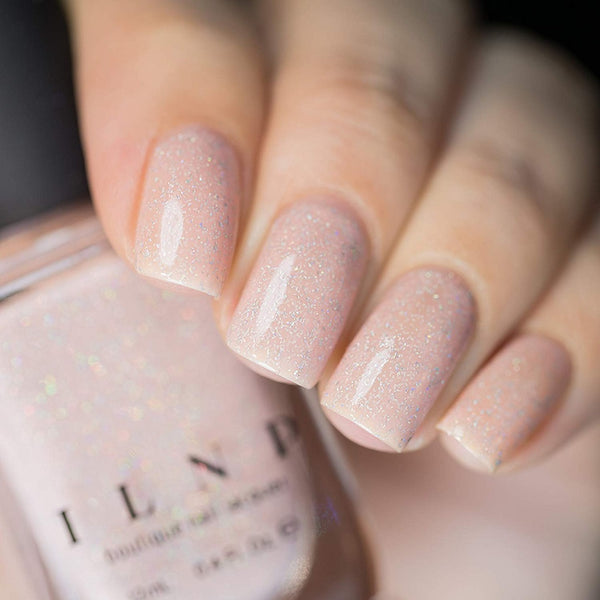 ILNP Chleo - Holographic Neutral Blush Pink Sheer Jelly Nail Polish