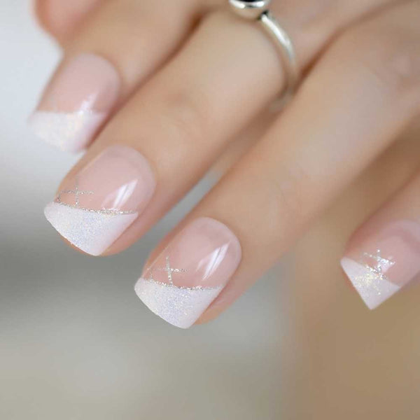 Iridescent French Manicure