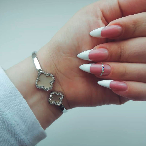 Modern French Manicure Fall Nails