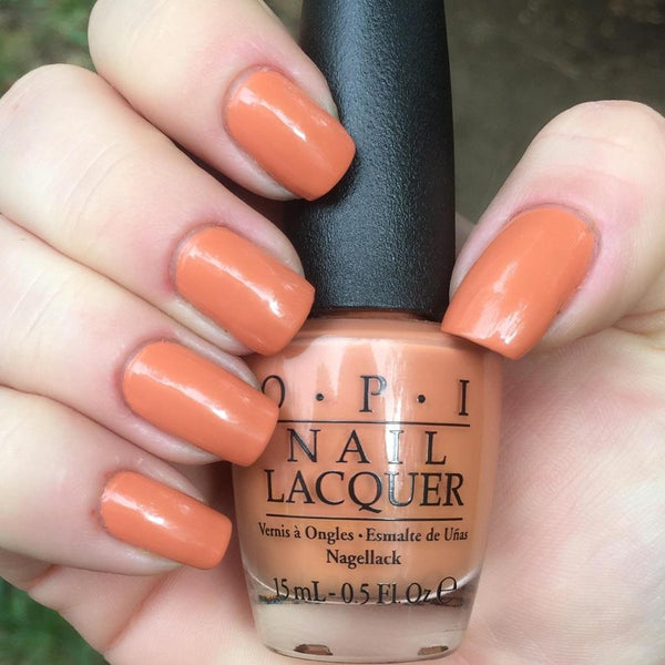 OPI Freedom of Peach Nail Lacquer + OPI Powder Perfection