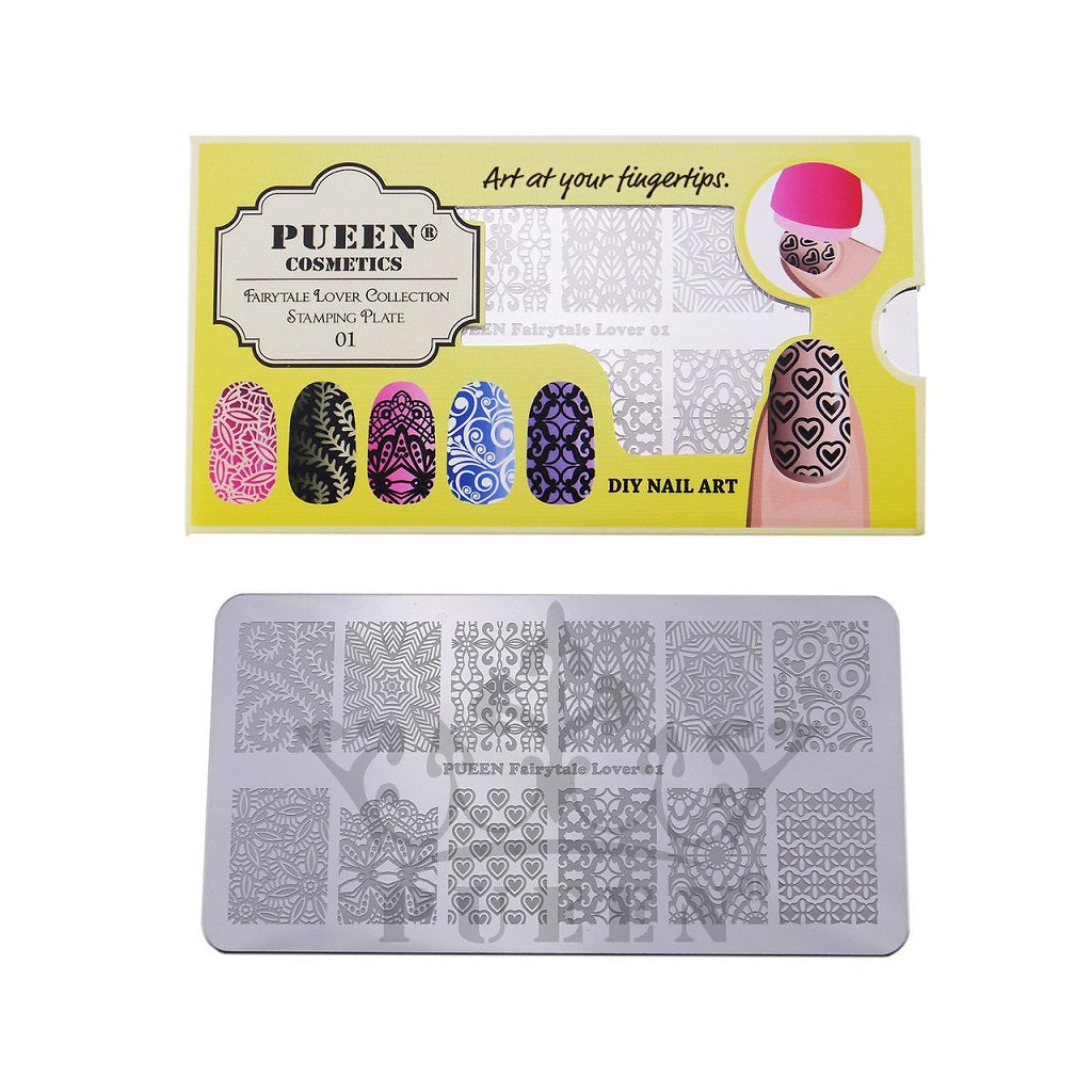 PUEEN Nail Art Stamping Plate
