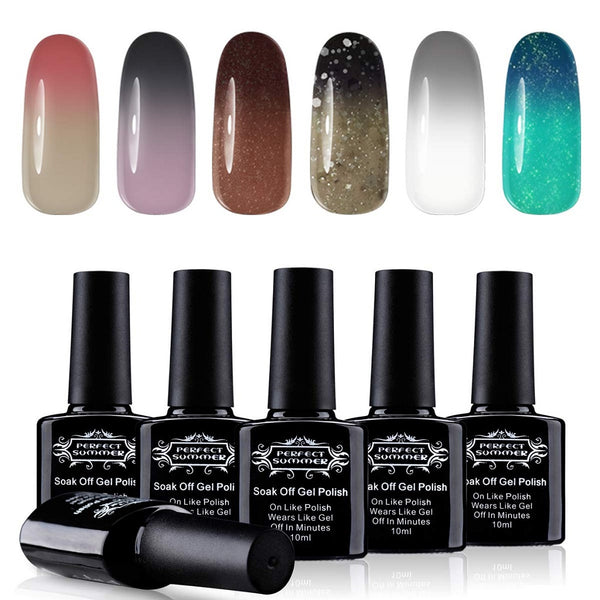 Perfect Summer Temperature Colors Changing Chameleon UV LED Gel Nails Polish