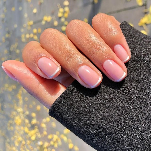Pink Nails with French Manicure