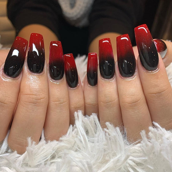 Red and Black Ombre