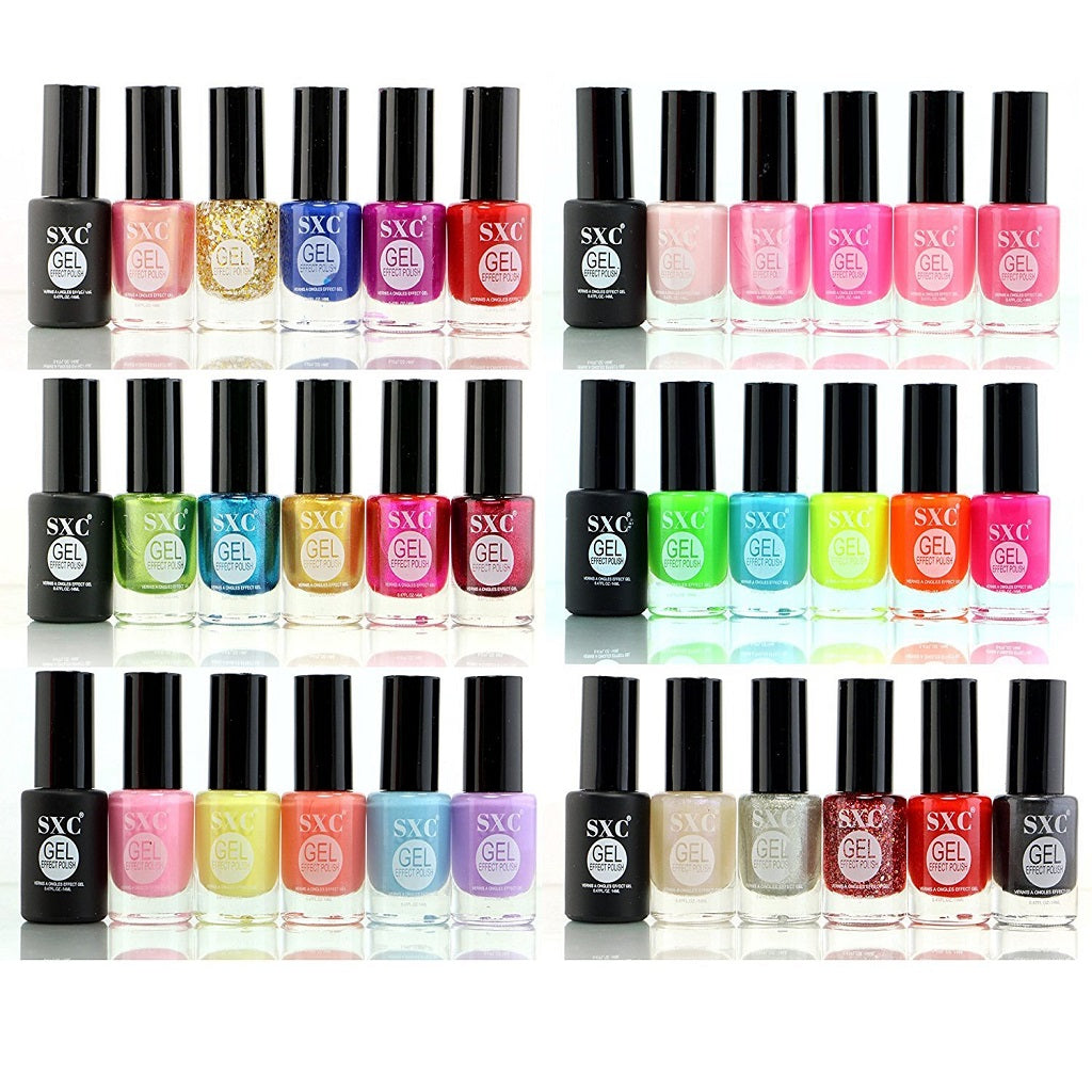 SXC Cosmetics 36 Color Gel Effect Nail Lacquer