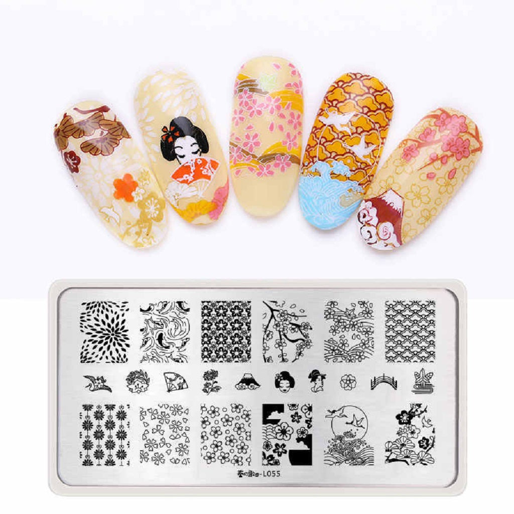 Stamping Template Japanese Manicure Stamper Kit