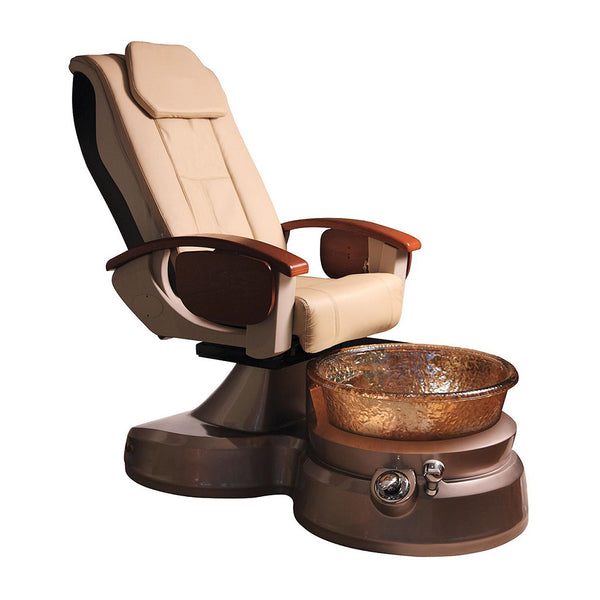 Tan and Gold Pedicure Spa Massage Chair