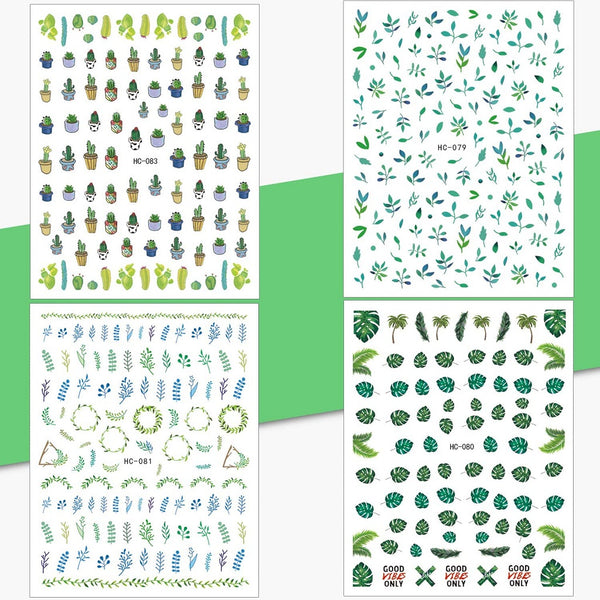 Whaline Mixed 3D Self-adhesive Nail Art Stickers