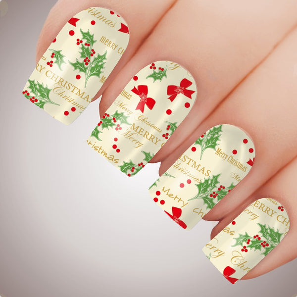 Wrapping paper for Christmas Nails