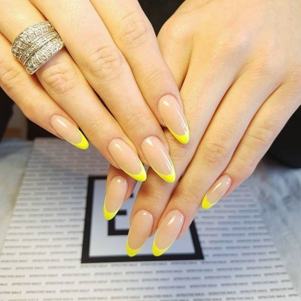 Yellow-Tipped French Manicure