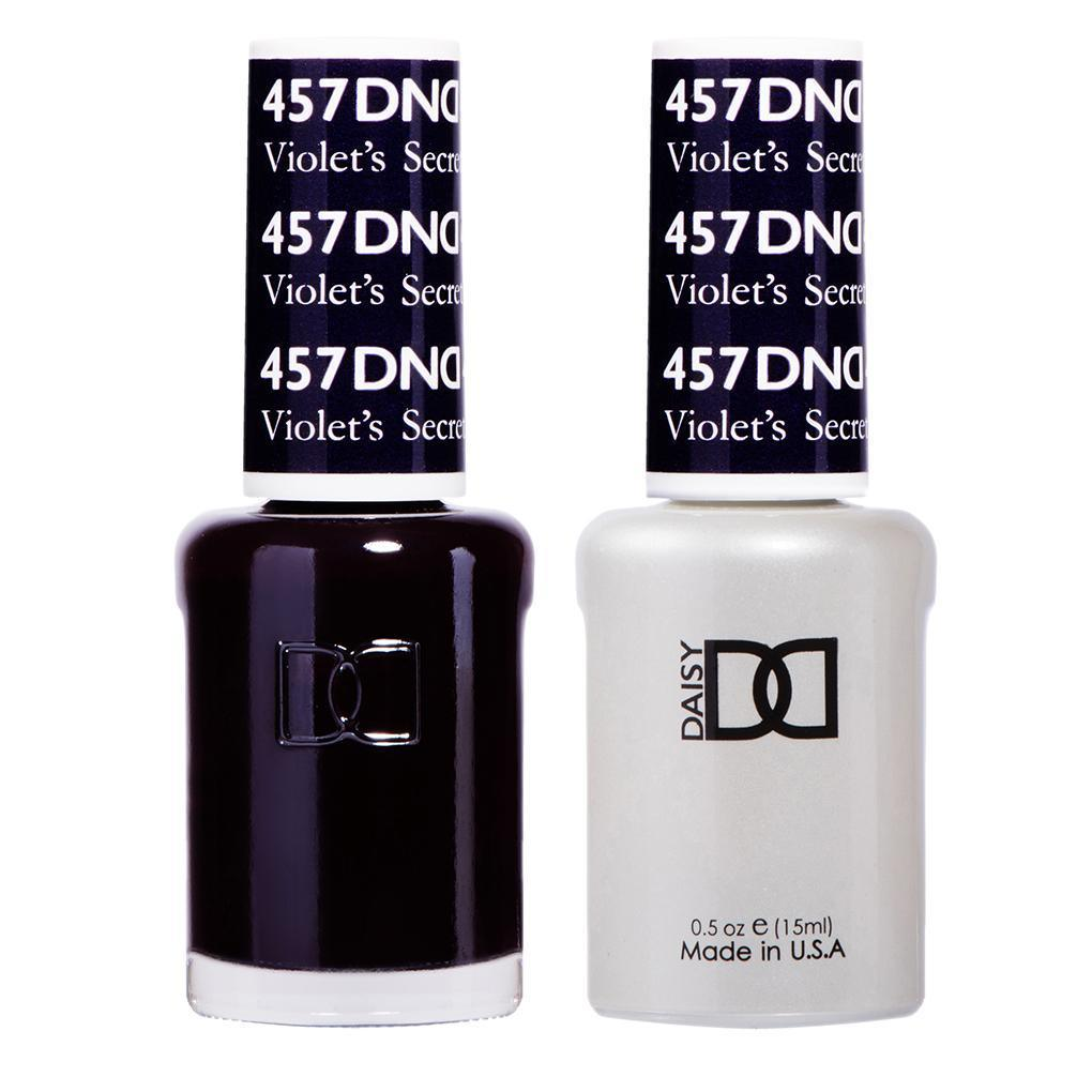 DND 457 Violet's Secret - DND Gel Polish & Matching Nail Lacquer Duo Set - 0.5oz