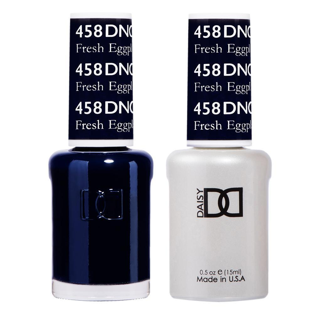 DND 458 Fresh Eggplant - DND Gel Polish & Matching Nail Lacquer Duo Set - 0.5oz