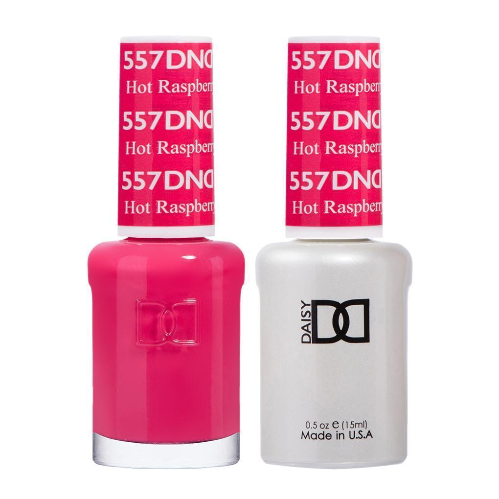 DND 557 Hot Raspberry - DND Gel Polish & Matching Nail Lacquer Duo Set - 0.5oz