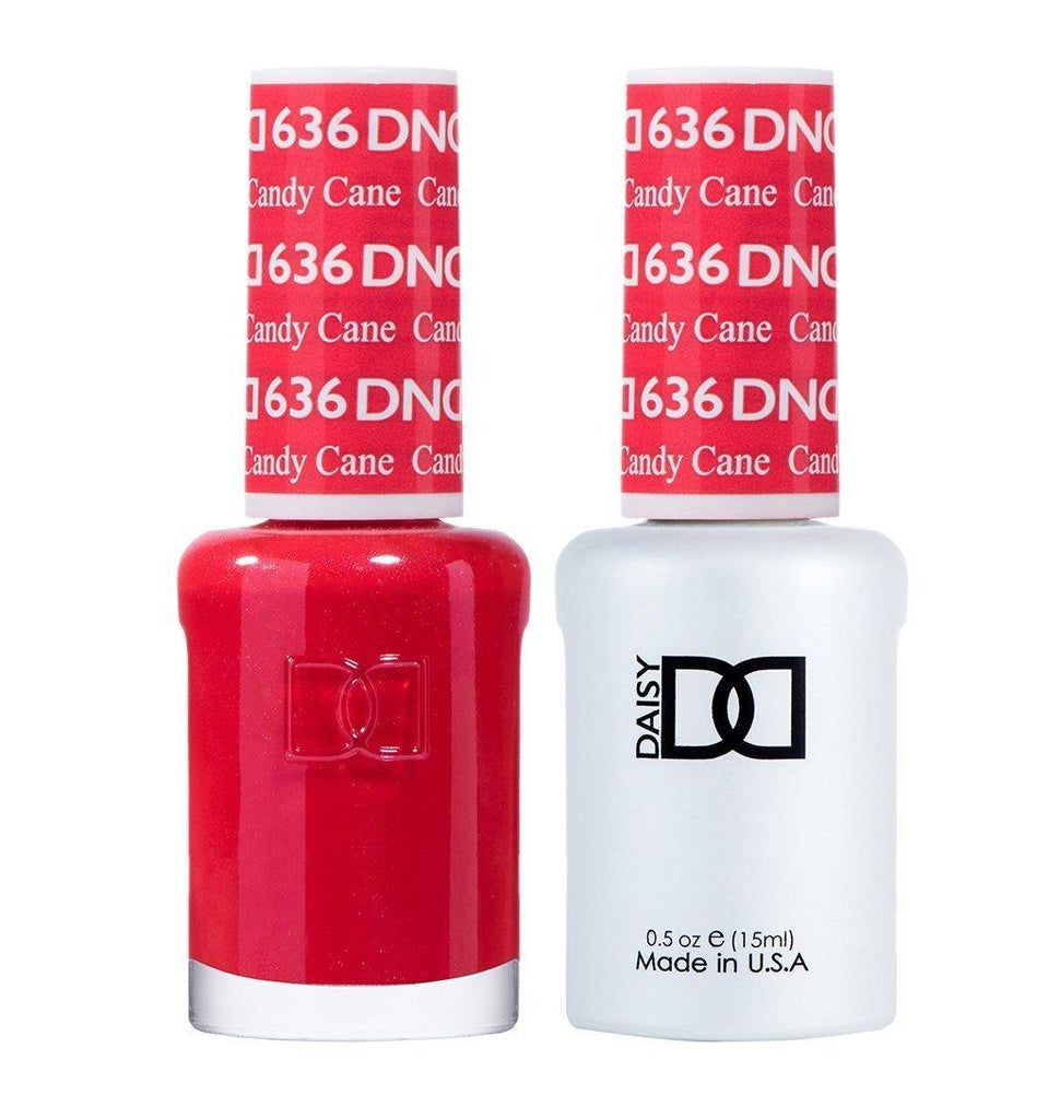 DND 636 Candy Cane - DND Gel Polish & Matching Nail Lacquer Duo Set - 0.5oz